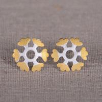 Fashion Silver 925 Jewelry Snowflake Design Custom Vintage Earrings