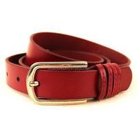 nickel free embossed gold plated pin buckle ladies fancy genuine leather belt