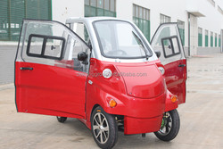 Environmental friendly daily commuter high quality 2 seaters with close doors mini scooter electrical car