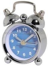 2015 decorative black funny twin bell alarm clock