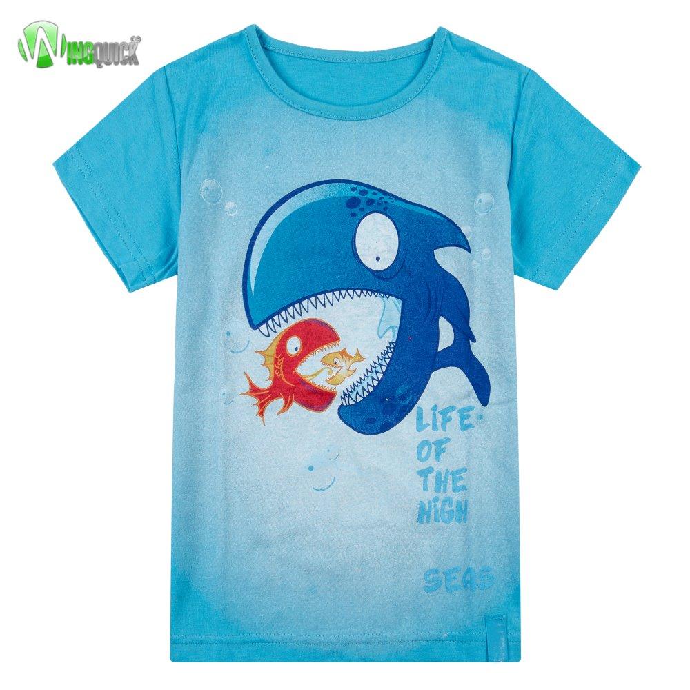 Full printing fancy kids cartoon t shirt for boys for Full t shirt printing