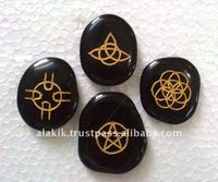 Black Agate Celtic Wiccan 4piece Set : Occult Pagan Wiccan ritual supplies
