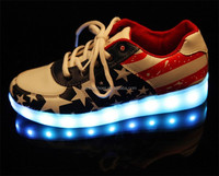 Manufacture 2016 Vogue Unisex led glow luminous Casual shoes men & women USB rechargeable light led shoes for adults LED shoes