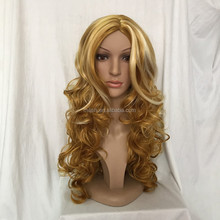 MFW-0087 top beauty brown long fashion synthetic natural hair wig