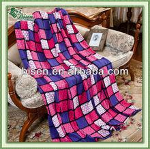 2013 New fashion soft printed polyester polar fleece blanket