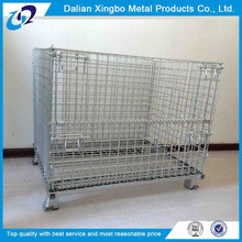 2015 collapsible movable and stackable wire mesh storage cage