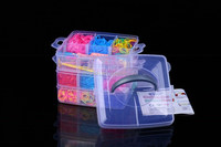 wholesale DIY rubber loom bands with box/loom bands kit