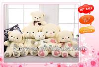 valentine loving plush stuffed teddy bear toy with heart