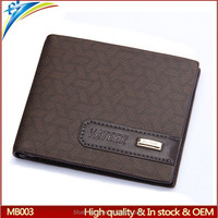 Popular fashion best brands mens wallet from 2012 Hot sell credit card case thin type with metal logo