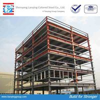 Multi layer steel structural building