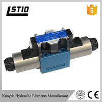 WE10 series hydraulic control wet type directional spool valves, direct operated with solenoid actuation