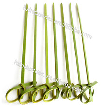 Natural knot skewer factory with high quality