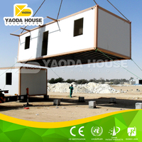 Small movable prefab flat pack office container house