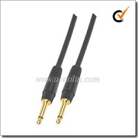 PVC Black Guitar Link Cable 64x0.12 Spiral Shield Guitar Cable (AL-G029)