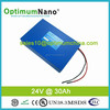 energy storage 24V 30Ah lifepo4 battery pack