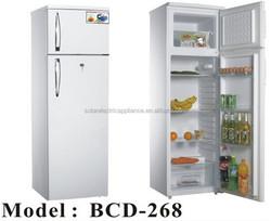 Low Price Solar DC Refrigerator ,DC Solar Fridge(2 door) -- BCD-268
