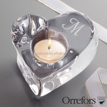 heart shape crystal candle holder wedding gift for guests