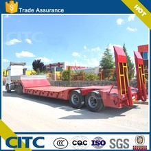 new 60 ton hydraulic low bed semi trailer truck with 3 axles transport logs and machine trailer low price