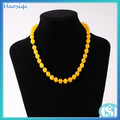 amarillo jade cuentas de collar de la moda diseños nuevo collar de jade