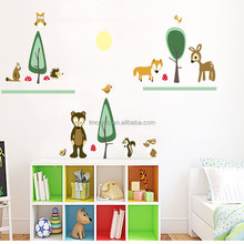 New arrived hot sell Special design Cartoon green trees removable wall sticker decal kids/ Living /bedroom stickers JM8374