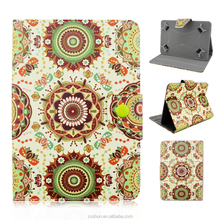 Aztec Tribal Floral Design Flip Stand with Magnetic Button PU Leather Universal Cover Cases For 7inch IOS/Android Tablets