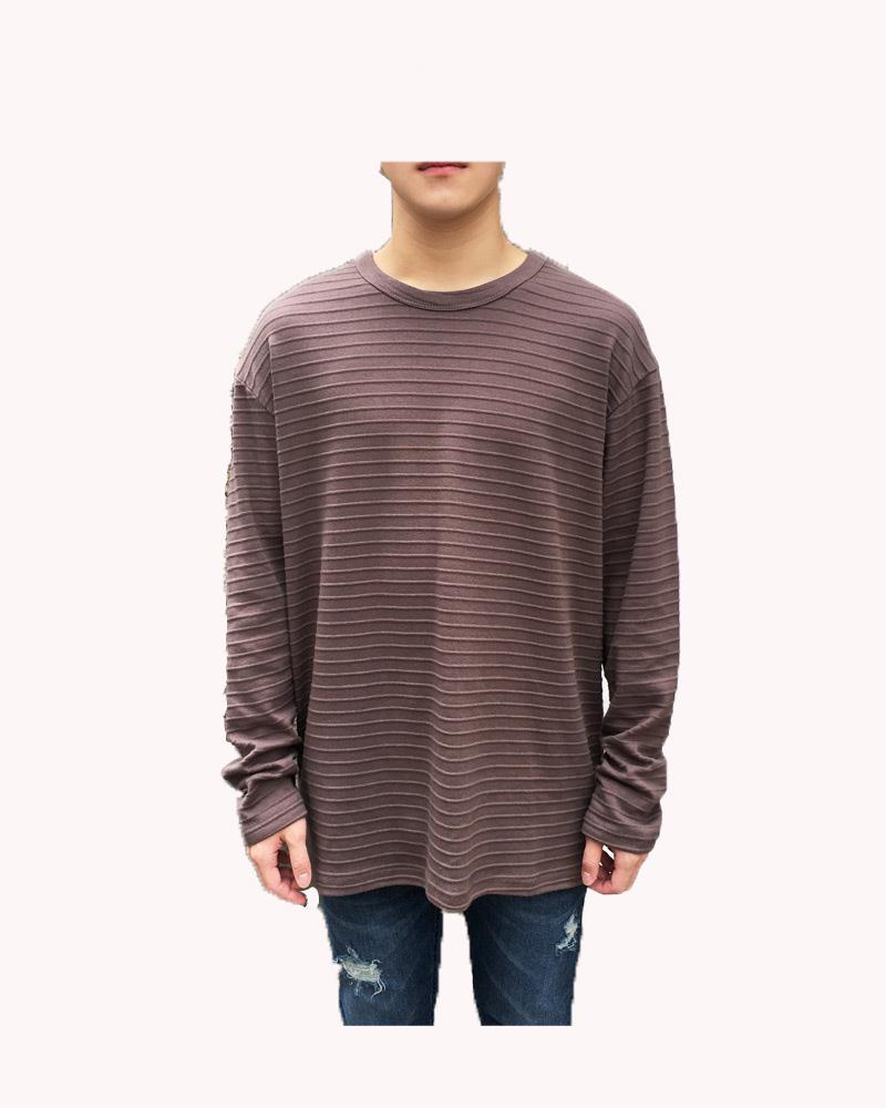 2017 Venda Quente dos homens Novos de Algodão Levemente Em Relevo Bordado T-shirt