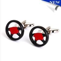 Novelty cufflink Custom Design Steering wheel Men's Accessories