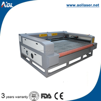 Cloth/Leather/garment fabric laser cutting machine with auto feeding work table