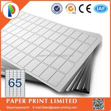 A4 labels 65 label per sheet adhesive a4 printing paper 38.1 x 21.2mm Software Compatible Codes: L7651,J8651