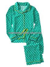 los niños de punto impreso pijama de franela conjunto con detalle de tuberías