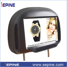 auto play android ad display 3G car pillow tft lcd monitor 9inch