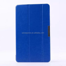 high quality folio flip tri folding tablet cover stand leather case