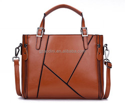 Trendy women leather bags patchwork leather handbags