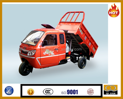 China cargo tricycle with cabin with side doors enclosed box cabin