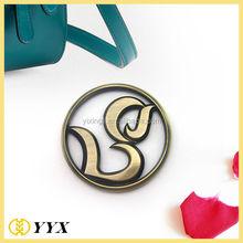 customized metal logo handbag charms wholesale metal custom bag tag