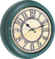 antique dark green wall clock, decoration wall clock
