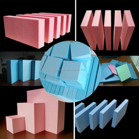 shunan Heat Insulation Materials /Nice Pink and blue eps wall panel Extruded polystyrene insulation board(XPS)