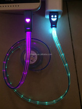 USB cable with LED light retractable cable