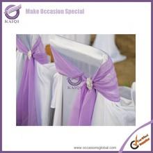 k5676 cheap organza purple chiffon sash wedding with buckle