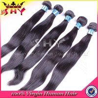 Wholesale factory price human 28 inch virgin remy brazilian hair weft