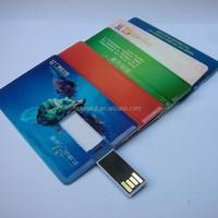 Credit card shape usb memory stick can print full logo