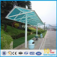 Marolon carports garages with polycarbonate solid sheet roof