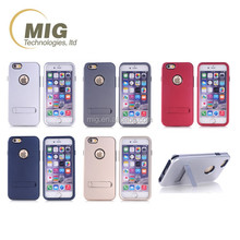 Sublimation 3 in 1 tpu & pc for iphone 6 phone case, mobile phone cover for iphone 6/ 6 plus plain case with bumper and stand