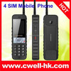 Newest Monster Battery Long Standby Classic Palm Phone Style with Walkie Talkie 4 SIM Card Mobile Phone
