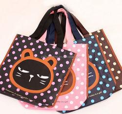 2015 cheap polyester compact reusable shopping bag/ waterproof sling backpack/ vest handling bag printed advertising