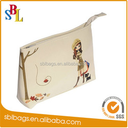 2015 faux leather personalized cosmetic bag