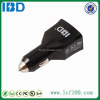 4 PIN Double usb port, 2A output qc 2.0 GOOD car charger 9V with smart IC mobile charger for Samrt phone MP4 digital camera
