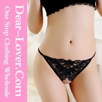 Black Lace www Open Crotch Sexy Photo Thong G-String for Women Sex