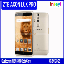 """ZTE AXON LUX PRO 4G LTE Mobile Phone 5.5"""" FHD 2560*1440 2K Android 5.0 Dual Sim Qualcomm MSM8994 Octa Core 4G RAM 128G ROM13.0MP"""