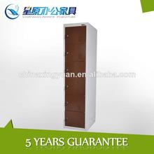 Six tier metal public locker cabinet with name card holder